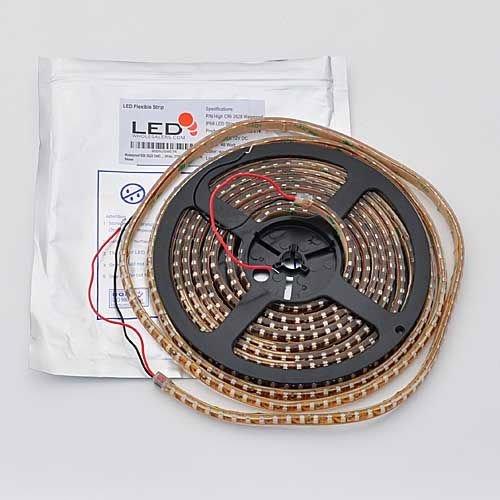 Waterproof 600 3528 Smd Led Flexible Strip 12 Volt, 16.4 Feet Warm White, 2700K,By Ledwholesalers, 2085Ww-27K