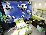 Wallpaper Mural ''FOOTBALL'' Fleece Photo Wallpaper