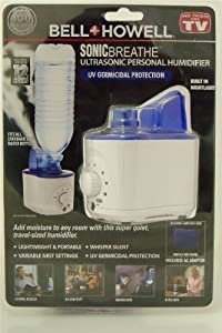 Bell+Howell 8662 Sonic Breathe Ultrasonic Personal Humidifier