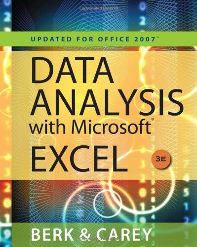 Data Analysis with Microsoft Excel(TM): Updated for...