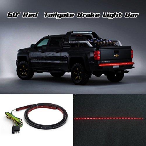 """Partsam Red Led Light 60"""" Bar Strip Truck Tailgate Rear Tail Turn Signal Brake Light For 1988-2002 Chevrolet C1500 C2500 C3500 K1500 K2500 K3500"""