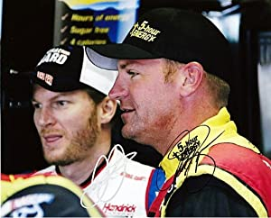 Buy *2X AUTOGRAPHED2013 Dale Earnhardt Jr. #88 Clint Bowyer #15 Garage Area (Pre-Race) NASCAR SIGNED 8X10 Glossy Photo w ... by Trackside Autographs