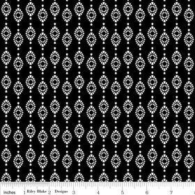Mystique Stripe Black Yardage by Lila Tueller for Riley Blake Designs SKU# c3085-black