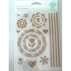 Martha Stewart Create Heart and Flower Clear Stamp