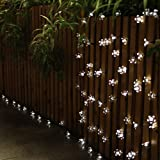 Innoo Tech Outdoor Solar Powered String Fairy Lights, 5M 50 Blossom Covers for Patio, Garden, Lawn, Chrismas trees, Party, Wedding(White)