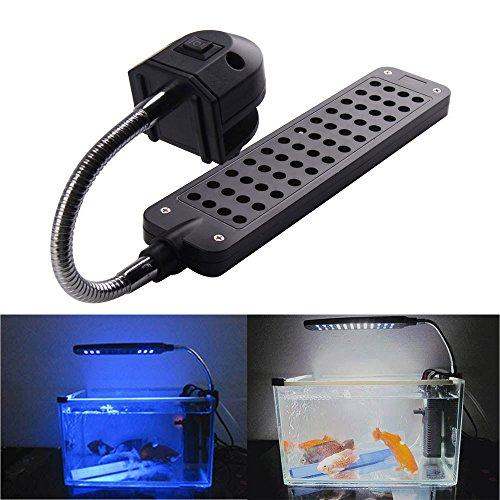 Vktech Dc12V 3.5W 48 Led Aquarium Light Lamp For Coral Reef Fishes Aquatic Animals (Us Plug)