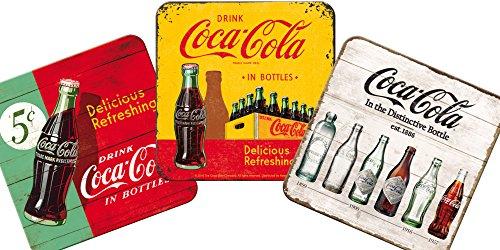 コカ・コーラ Coca-Cola / コースター 3枚 セット (ブリキ製)