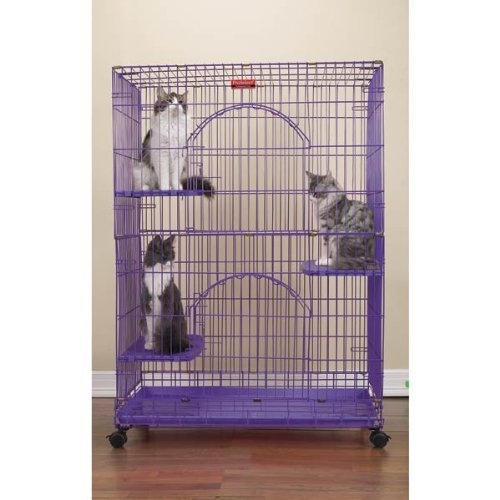 Proselect Wire Foldable Cat Cage, Purple
