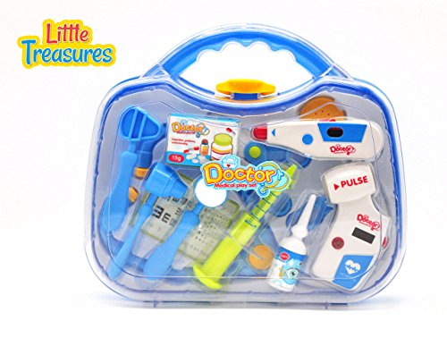 Little-Treasures-Travelling-Mini-Doctors-Play-Package-that-Includes-an-Electric-Heart-Rate-Monitor-Stethoscope-and-Thermometer