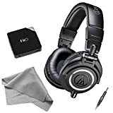 Audio-Technica ATH-M50X Professional Monitor Headphones - Black (New 2014 Model) with FiiO E6 Headphone Amplifier