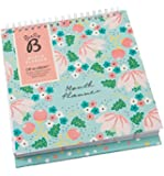 Busy B Floral Monthly Planner - Undated year calendar with built-in stand and pockets
