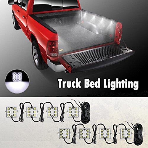 Partsam Universal Waterproof White LED Truck Bed/Rear Work Box Lighting Kit Trunk Light for 1994-2010 Dodge Ram 1500 2000 3500 (Chevrolet Silverado 1500 Parts compare prices)
