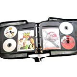 Artisan 120 Disc -Mini- Black Canvas DVD Album with 60 Liner Notes or Title Cover Page Capacity - Using Metal Ring Binder