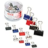 ACCO Binder Clips, Assorted Colors, 30 per tub (A7071130)