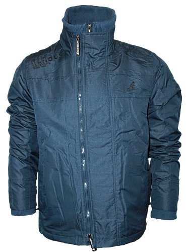 Mens Navy Kangol Speed Designer Fleece Lined Warm Winter Jacket Size S