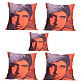 MeSleep Digitally Printed Base 5 Piece Cushion Cover Set - Multicolor