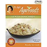 Dr. Jay's Ayurfoods Lentil Khichadi 2 Pack - Premium Blend of Basmati Rice, Lentils and Spices, FREE of Preservatives, BEST All Natural Ingredients, Vegan, Gluten Free, Ayurvedic, Ready in 15 Min