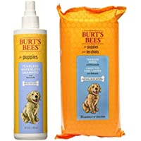 Burt's Bees For Dogs Puppy Tearless Waterless Shampoo With Buttermilk And Wipes Bundle