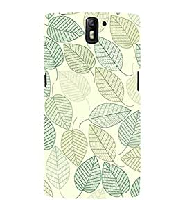 printtech Abstract Leaf Pattern Back Case Cover for OnePlus One / One plus one / Oneplus 1 / One Plus 1