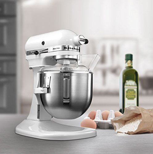 KitchenAid 5KPM5BWH 4.8-Litre Bowl Lift Stand Mixer (White)