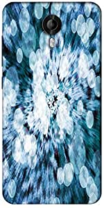 Snoogg Blue Flower Abstract Background Designer Protective Back Case Cover For Micromax Canvas Nitro 3 E455