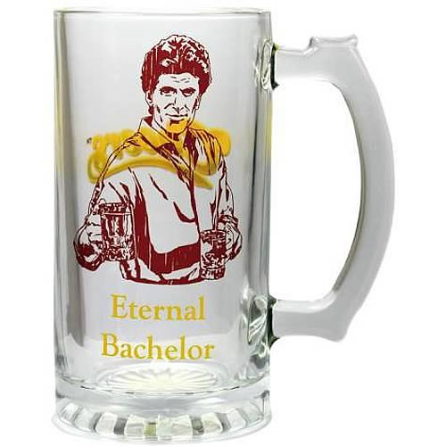 6 Inch Eternal Bachelor Sam From Cheers Beer Stein Glass Mug (Valentine Beer Mug compare prices)