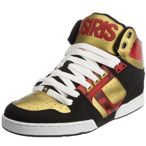 Osiris Men's Bronx Boot Red/Black/Gold 11301013 10 UK Feature. Classic Hi