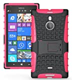JKase DIABLO Tough Rugged Dual Layer Protection Case Cover with Build in Stand for Nokia Lumia 1520 - Retail Packaging (Pink)
