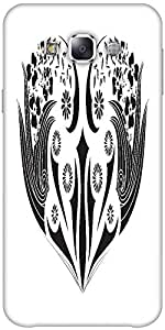 Snoogg Floral Frame Solid Snap On - Back Cover All Around Protection Forsamsu...