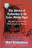 img - for The Poetics of Authorship in the Later Middle Ages (Studies in the Humanities: Literature-Politics-Society) book / textbook / text book