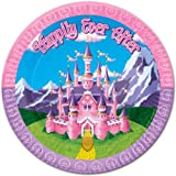 Princess Plates - 7 Inch [84 Pieces] *** Product Description: Disney Princess Inspired Castle Graphics With Happily Ever After Printed On Round 7 Plastic Plates. These Plastic Plates Are Specially Appealing To Children And Suitable For Princes ***