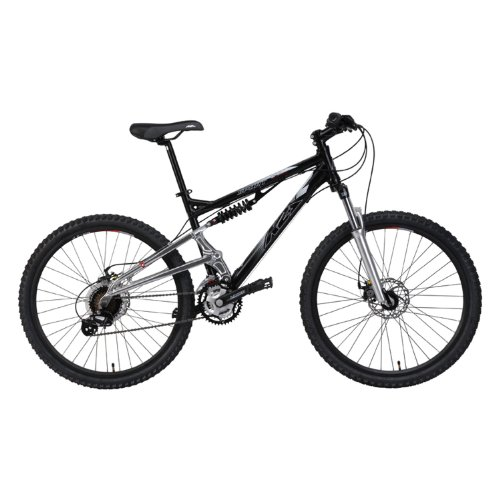 K2 Base Sport Full Suspension Mountain Bike (Black/Silver,Large)