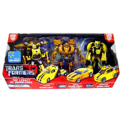 TRANSFORMERS - Movie Collection - Exclusive - DELUXE CLASS - THE LEGACY OF BUMBLEBEE - AUTOBOT - CLASSIC BUMBLEBEE & MOVIE BUMBLEBEE (Premium Series) & ANIMATED BUMBLEBEE - 3-PACK - OVP