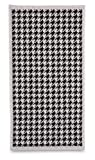 Citta Design 'Houndstooth' Bath Sheet Luxury Bath Towel, Oyster/Carbon, 63x39 inches