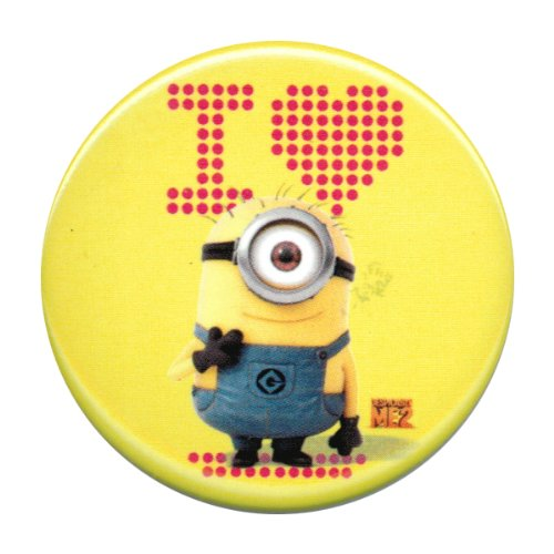 Despicable Me 2 I Heart Minion Yellow Button - 1