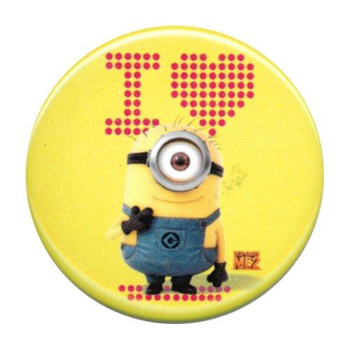 Despicable Me 2 I Heart Minion Yellow Button
