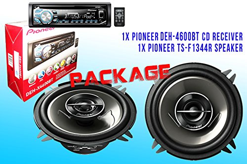 Package ! Pioneer Deh-X4600Bt Cd-Receiver + Pioneer Ts-G1344R Car Speakers