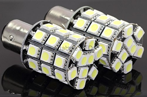 Can Bus Car 1157 Bay15D 36 Led White Tail Turn Brake Signal Light Bulb Lamp L113 @ Ba15S 1073 1093 1129 1141 1159 1259 1464 Compare To Sylvania Osram Phillips Piaa