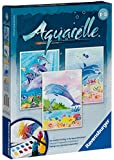 Ravensburger Aquarelle 29310 Watercolour Painting Set 18 x 24 cm Dolphins