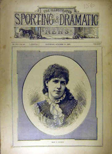1880 Portrait D'Algua Sporting Dramatic Cover Old Print