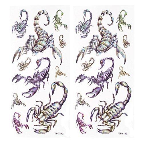 arte-corporal-escorpion-estampado-tatuaje-temporal-etiqueta-engomada-de-la-transferencia-2-piezas-ne