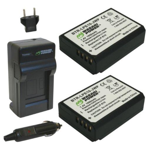 Batería Wasabi y cargador para Canon, paquete de 2 baterías
