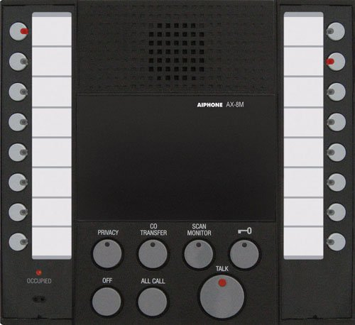 Aiphone Ax-8M Audio-Only Master Station For Ax Series Integrated Audio & Video Security System front-613342