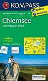 Chiemsee - Chiemgauer Alpen: Wanderkarte mit KOMPASS-Lexikon, Radwegen und Loipen. GPS-genau. 1:50000 (KOMPASS-Wanderkarten)