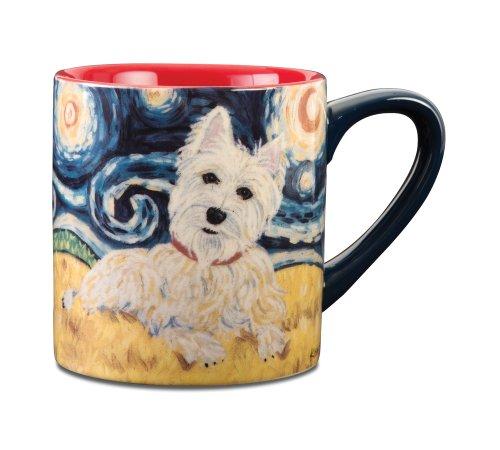 Paw Palettes West Highland Terrier Van Growl Ceramic Mug, 16-Ounce front-428482