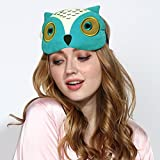 3D Cute Owl Sleep Mask Gle Eye Mask for Sleeping-Soft Adjustable Blindfold Eyeshade for Men Women and Kids,Comfortable Eye Cover for Travel Nap Shift Work (Green) (Color: Pink)