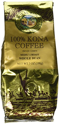 Royal Kona - Private Reserve Medium Roast - 100% Kona Coffee - Whole Bean - 7 oz Bag (Hawaiian Coffee Kona compare prices)