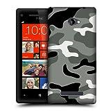 Head Case Designs Night Shift Military Camo Hard Back Case Cover for HTC Windows Phone 8X