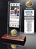 "NFL Pittsburgh Steelers Super Bowl 10 Ticket & Game Coin Collection, 12"" x 2"" x 5"", Black"