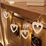 White Wooden Battery Fairy String Lig...